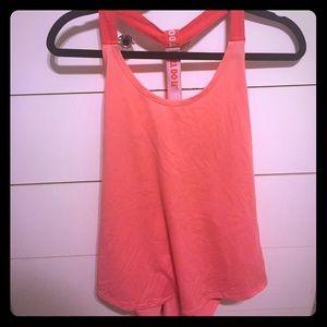 Neon Orange Nike Fitness tank top.